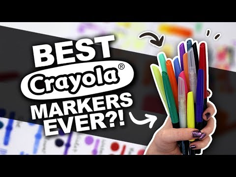 I'M IMPRESSED!! | Crayola Blending Markers Review | Copic Alternative