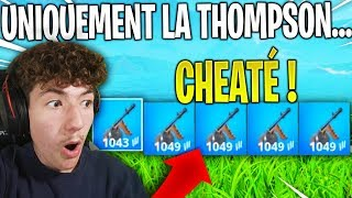 I played ONLY with the THOMPSON on Fortnite, it's way too loud ... (cheat)