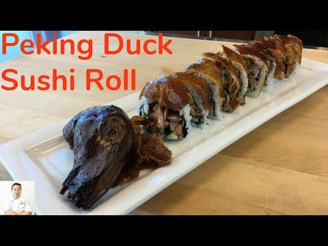 Peking Duck Sushi Roll | Never Done Before