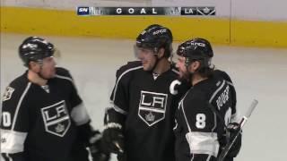 Kopitar gets lucky deflection off Zaitsev