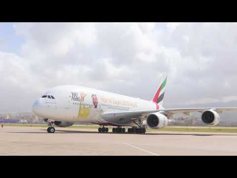 Emirates' A380 makes a historic landing in Beirut | Emirates Airline