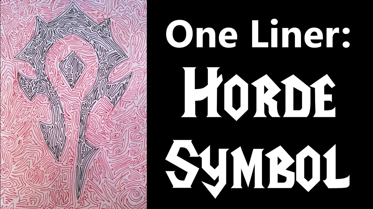 One Liner Horde Symbol World Of Warcraft Youtube