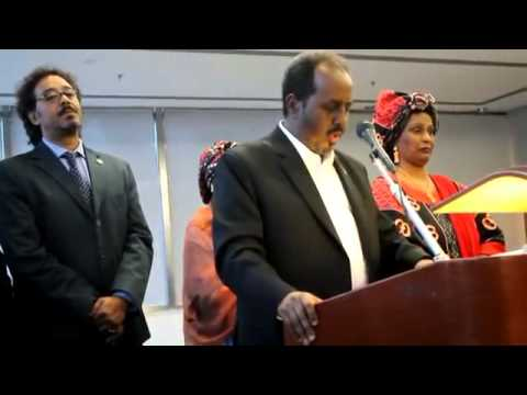 Conference with the president Hassan Sheikh Mohamud in Rome Madaxweyne Xasan ee Roma