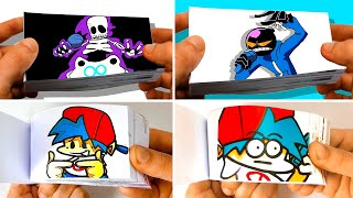 FNF BF + PICO + WHITTY + DAD + MOM and other Friday Night Funkin Flipbook Animation Compilation