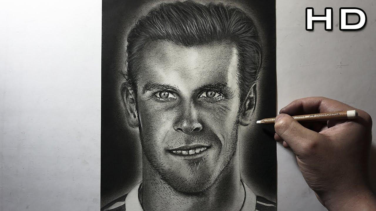 Descargar Dibujos De Alexis Sanches: Dibujo Realista De Gareth Bale Al Carboncillo
