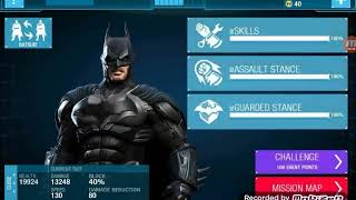 Batman Arkham Origins mobile Bane boss fight using Injustice batsuit