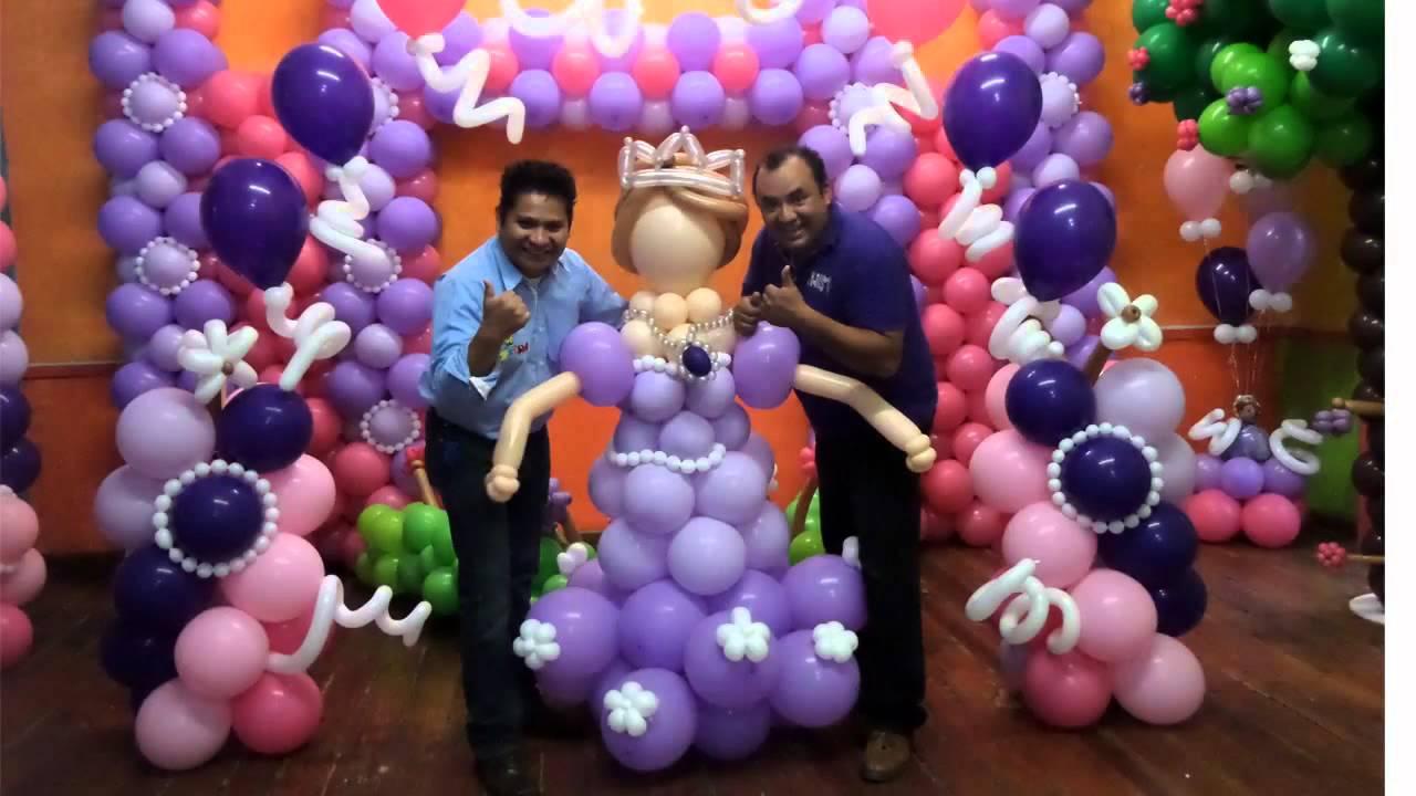 Pasado curso con globos 20 sep 2014 youtube - Hacer munecos con globos ...