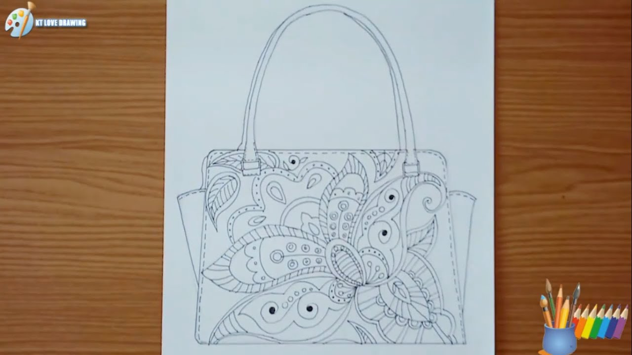 Vẽ tạo dáng và trang trí túi xách mỹ thuật 9 ( Vẽ hình )/ Design and decorate a fun bag
