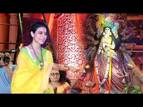 Kajol's  Durga Puja 2018  Celebrations Complete Video HD