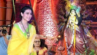 Kajol's  Durga Puja 2018  Celebrations Complete Video HD