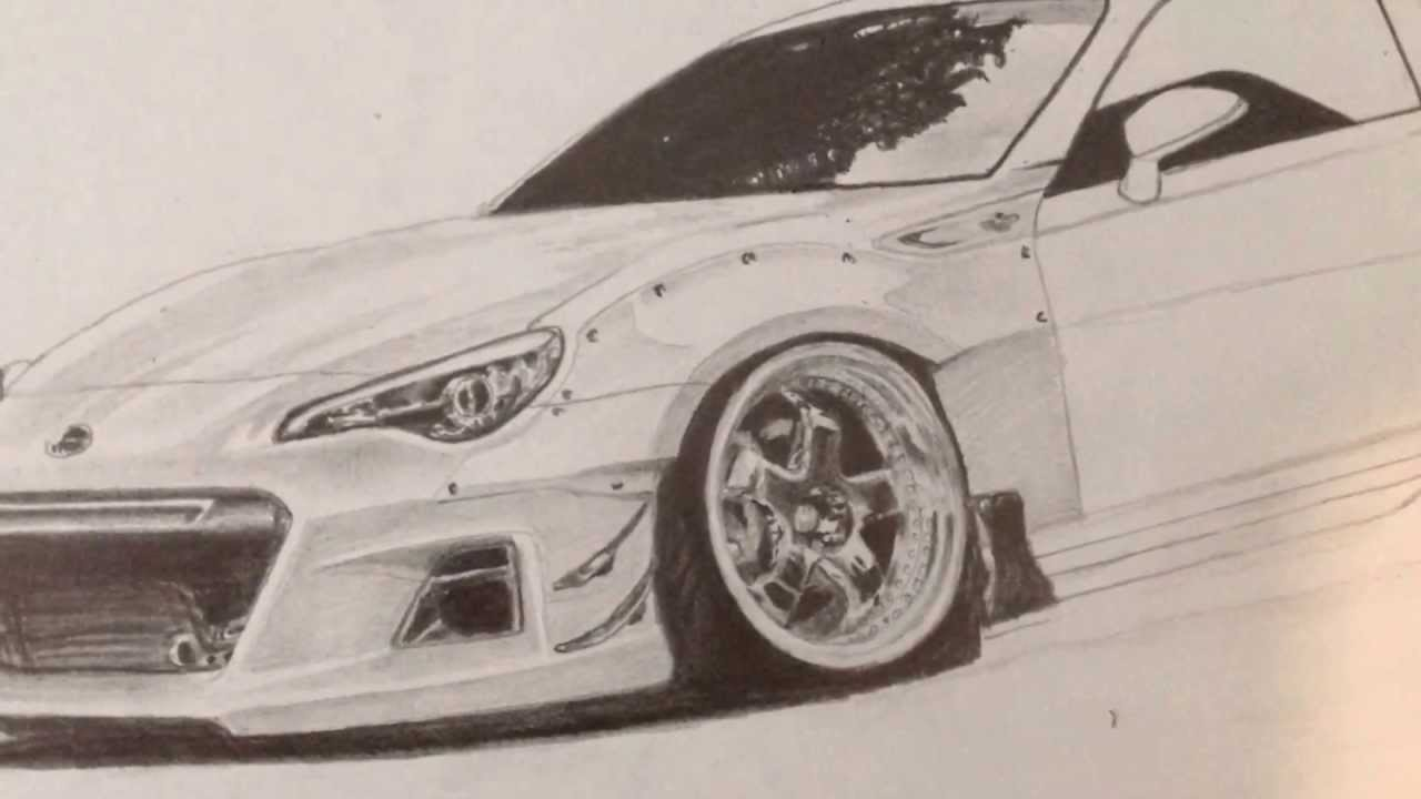 Rocket Bunny Car Pencil Drawing - YouTube