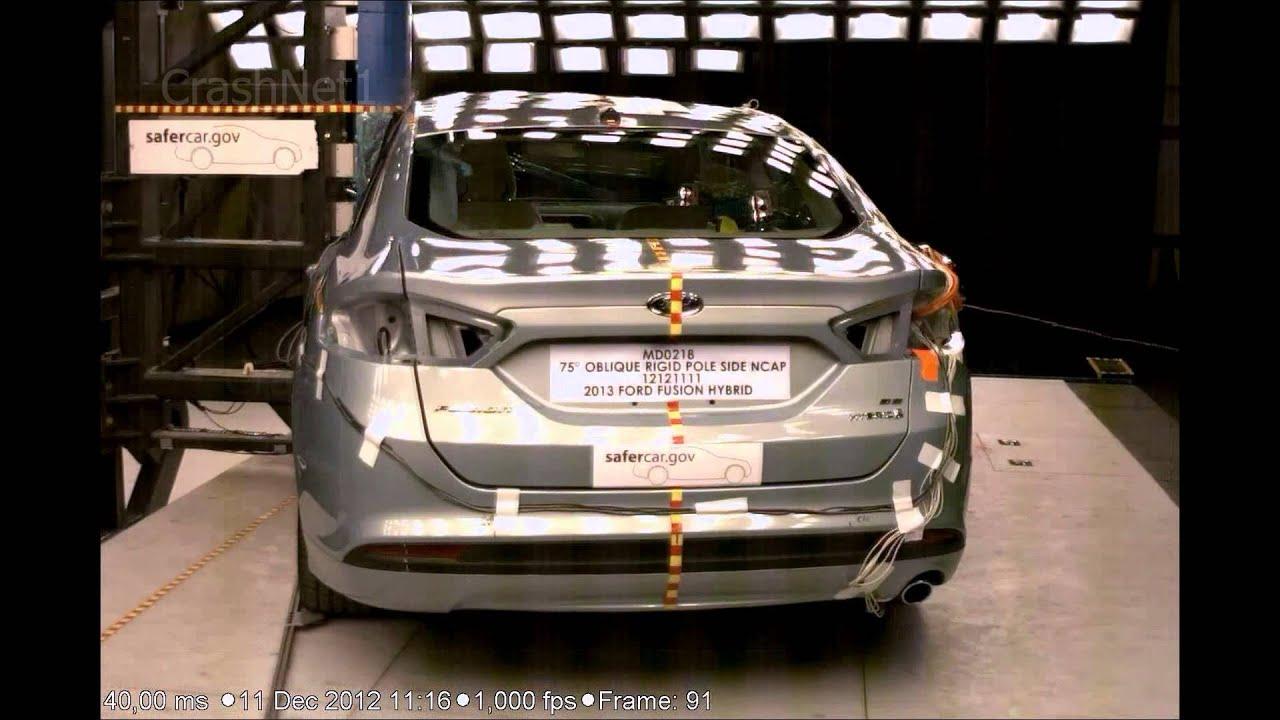 Ford fusion mondeo hybrid 2013 pole crash test nhtsa crashnet1 youtube
