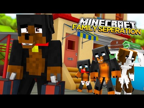 Minecraft FAMILY SEPERATION - MOM KICKS DAD OUT OF THE FAMILY HOME - donut the dog