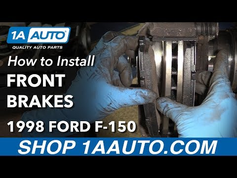 How to Replace Front Brakes 97-03 Ford F-150 4x4