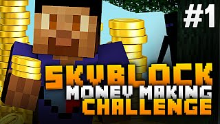Minecraft SKYBLOCK MONEY MAKING CHALLENGE #1 with Vikkstar123 (Minecraft Sky Block Survival)