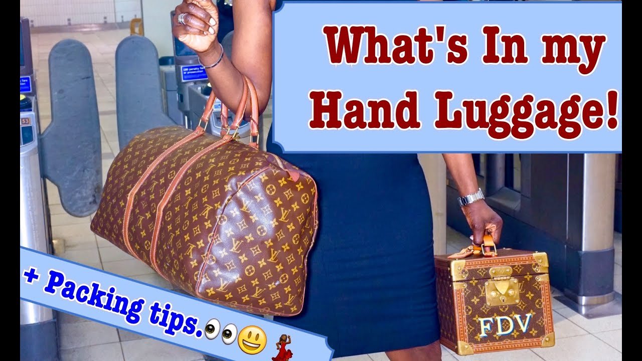 What's in my hand luggage & In-Flight essentials | Fumi Desalu-Vold