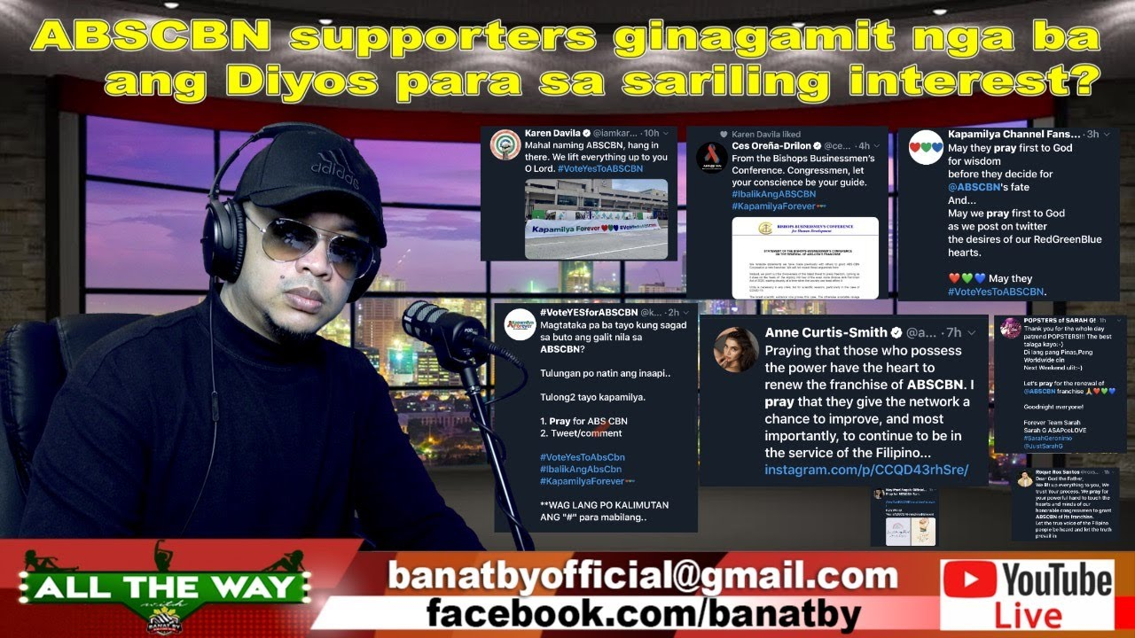 ABSCBN supporters ginagamit ang Diyos???