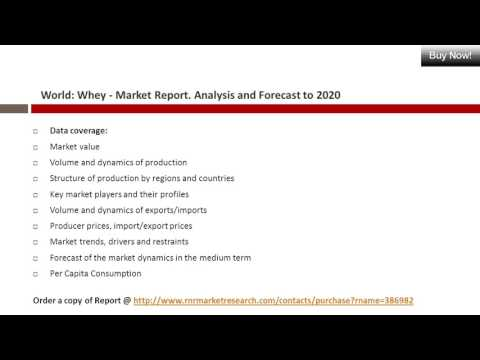 Global Whey Market Report - Analysis, Trends & Forecast 2016-2020