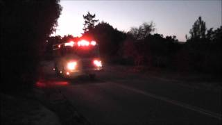 Campo Fire Truck drive by