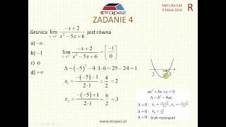 [Zadanie 4] Matura z matematyki poziom rozszerzony. Maj 2018.