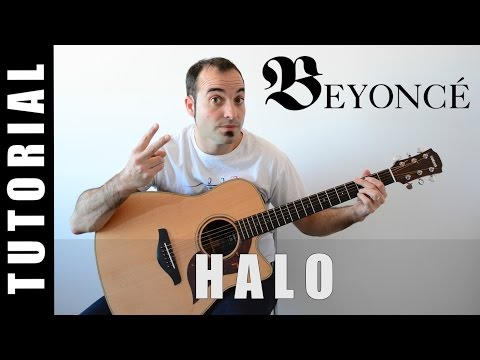 How to play Halo - Beyoncé EASY Tutorial CHORDS and LYRICS, TABS