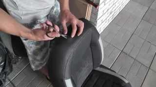 Врезка отверствий под подголовники чехлы MW Brothers (Avtoradosti.com.ua)(Как проделать дырки под подголовники в автомобильных чертах MW Brothers, вы узнаете, посмотрев это видео. Купить..., 2014-09-23T10:37:15.000Z)
