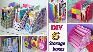 6 DIY SIMPLE ORGANIZERS AND BOXES FOR STORAGE from cardboard//