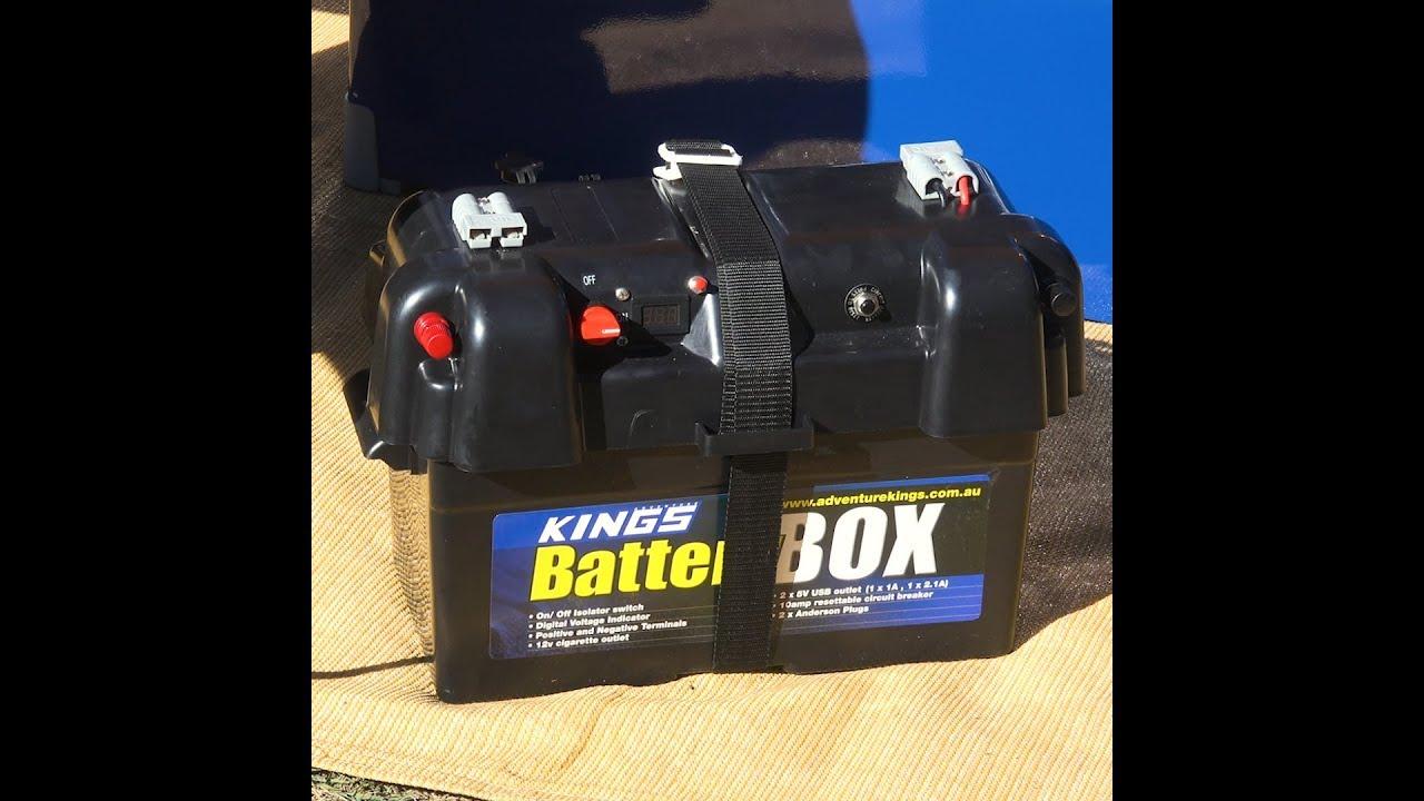 4Wd Supacentre Jump Starter adventure kings battery box + illuminator led head torch