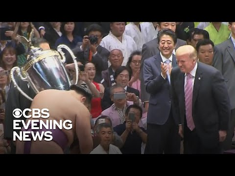 Trump spends first full day in Japan with Shinzo Abe