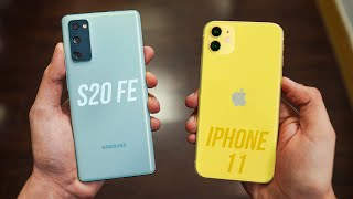Iphone 12 is almost here but let's do a samsung galaxy s20 fe vs 11. hands on comparison including display, camera, performance, software, battery & m...