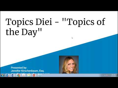 Join Jennifer For Topics Diei   'Topics Of The Day'