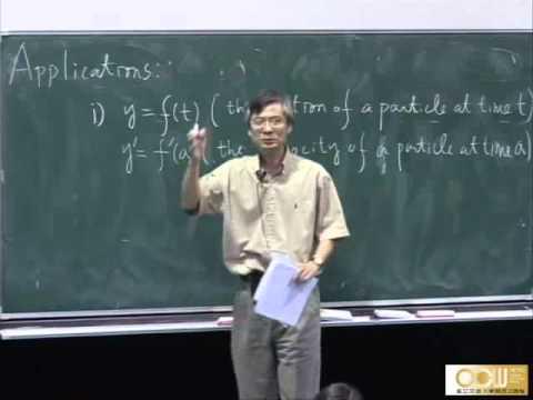 Lec08 微積分(一) 第二章 Limits and derivatives