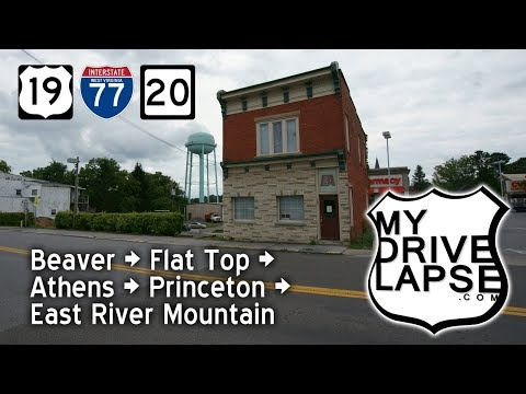 Southern WV: Beaver, Flat Top, Athens on US 19, I-77