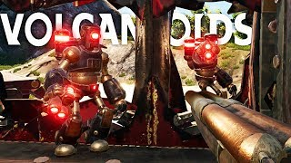 Sneaking Inside Enemy Drillships to Loot and Destroy! - Volcanoids Gameplay
