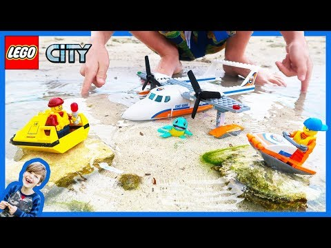 Lego City Coast Guard Sea Plane Rescue!