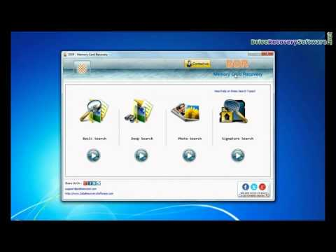 SD Card Data Restore By Using DDR Memory Card Recovery Software