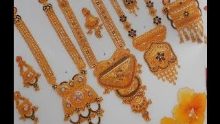 INDIAN JEWELLERY DESIGNS : NECKLACE,LONG CHAIN (HARAM) &EARRINGS
