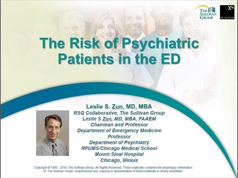 The Risk of Psychiatric Patients in the ED