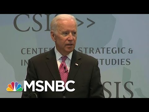 Former Vice President Joe Biden Receives Brzezinski Prize, Tells Putin Story | Morning Joe | MSNBC