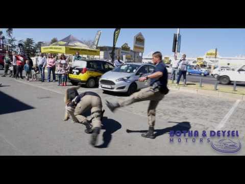 South African police in Boksburg