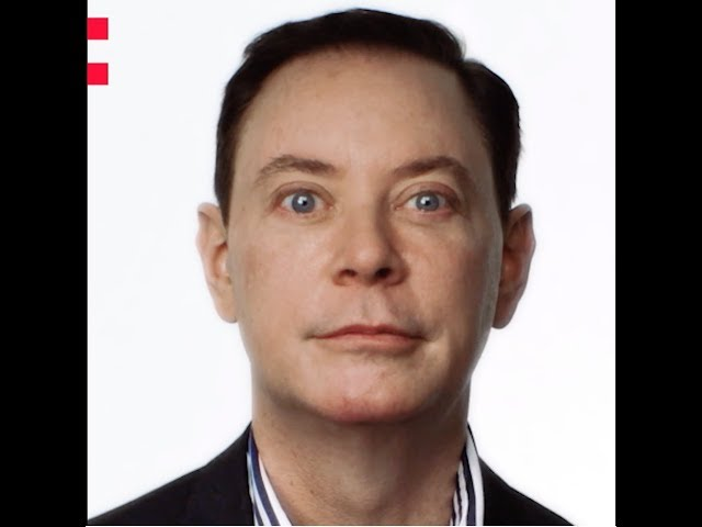 Frame of a video of Andrew Solomon speaking about the Odyssey project