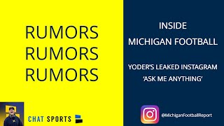 Michigan Football News & Rumors: James Yoder's Instagram 'Ask Me Anything' - 2019 Michigan Football