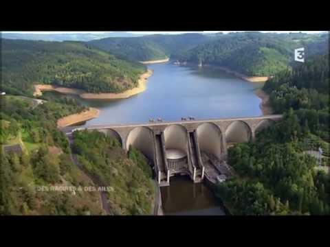 Cantal Vallée de la Truyère ,vidange barrage de sarrans , tréboul ,laussac