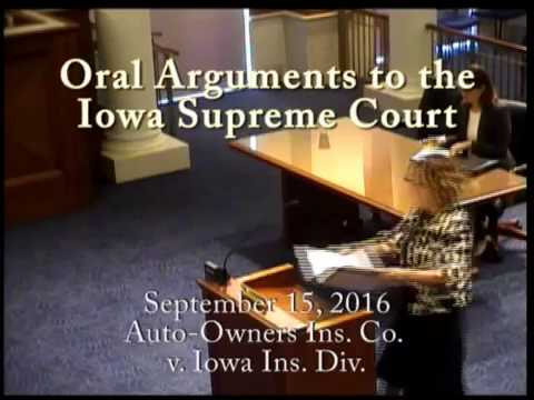 15-0714 Auto-Owners Ins. Co. v. Iowa Ins. Div., September 15, 2016