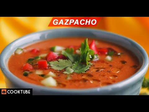 Gazpacho Recipe | Healthy Cold Spanish Tomato Soup Recipe | Cold Soup Recipe