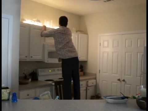 apartment lighting project over cabinet lighting in one easy step