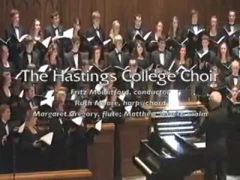 Rutter: Blow, Blow, Thou Winter Wind (The Hastings College Choir)