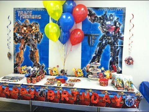 Fiesta de transformers party2017 mesa de dulces decoracion for Decoracion de mesas dulces infantiles