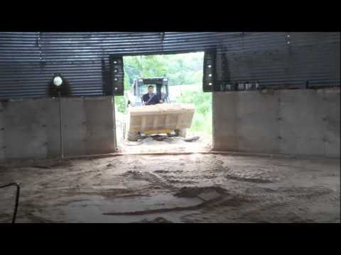 grain corn bin house home silo build part 3 YouTube