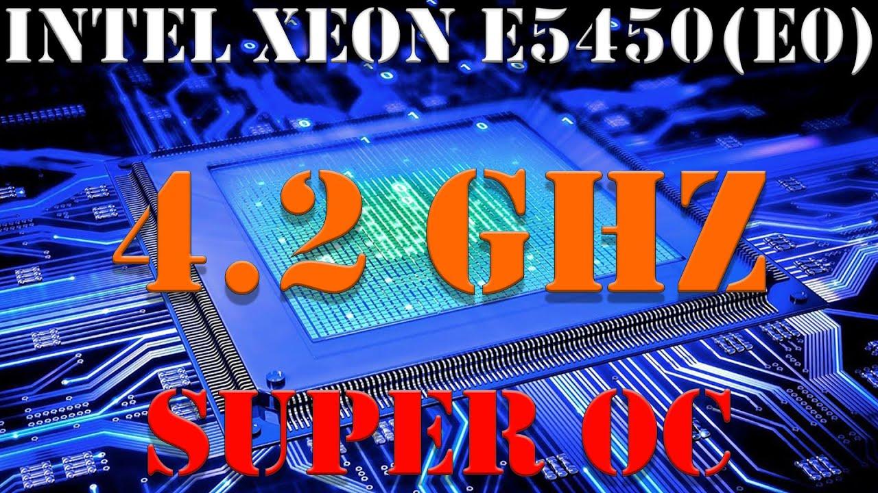 Личный стабильный рекорд разгона Intel Xeon E5450 (E0), 4.2GHz